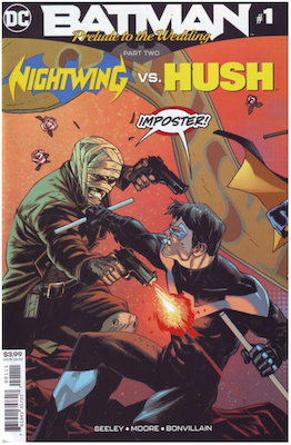Prelude to the Wedding: Nightwing vs Hush (2018). Click for values.