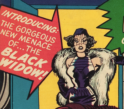 Black Widow Marvel Comics: first appearance of Natasha Romanov was in Tales of Suspense #52