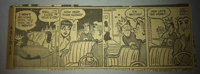 Bob Montana Archie Comic Strip