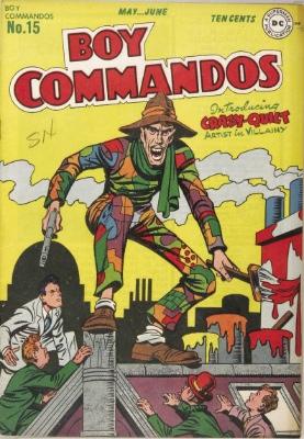 Origin and First Appearance, Crazy Quilt, Boy Commandos #15, DC Comics, 1946. Click for value