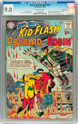 Brave and the Bold #54 is best bought in a blue CGC holder. Invest in a crisp 9.0 or higher, the best you can afford. Click to find yours!