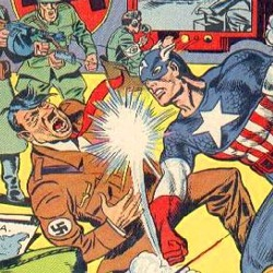 Adolf Hitler was an early Captain America anti-hero
