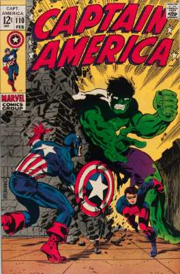 Captain America #110—features the Hulk. Click for value