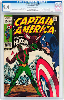 A nice crisp CGC 9.4 copy of Captain America #117 is superb value, and looks to be a good long-term investment. Click to buy one