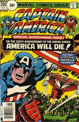 Captain America #200 Marvel 30 Cent Price Variant August, 1976. Circle Blurb