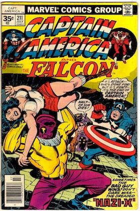 Captain America #211 Marvel 35 Cent Price Variant