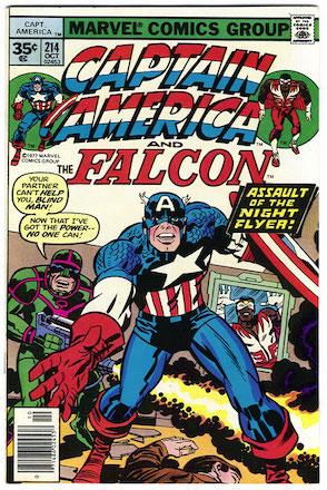 Captain America #214 35 Cent Price Variant
