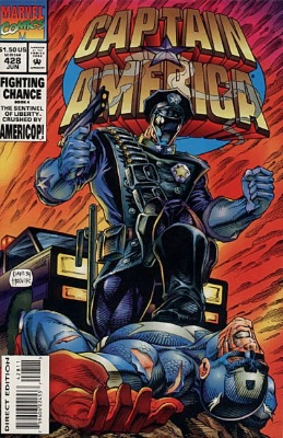 Origin and First Appearance, Americop, Captain America #428, Marvel Comics 1994. Click for value