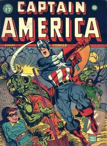 Captain America #17 Our heroes fight zombies!