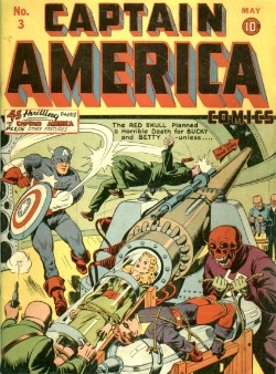 Captain America comic: first work for Marvel by Stan Lee