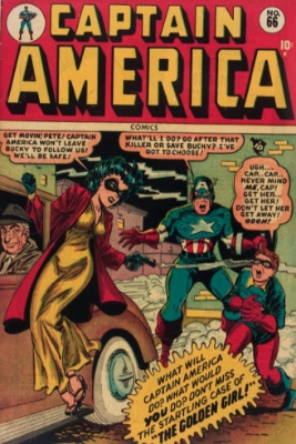 Captain America Comics #66: First Appearance, Golden Girl (Betsy Ross). Click for values