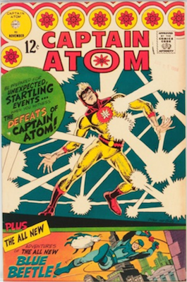 Captain Atom #83: Blue Beetle Returns to Comics. Click for values