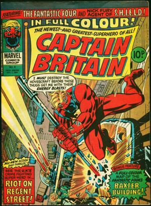 Captain Britain #8 (Marvel UK, 1976): First true Appearance of Psylocke. Click for values