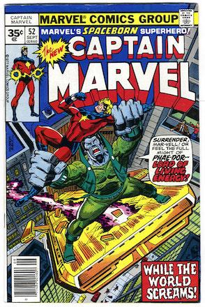 Captain Marvel #52 35 Cent Price Variant