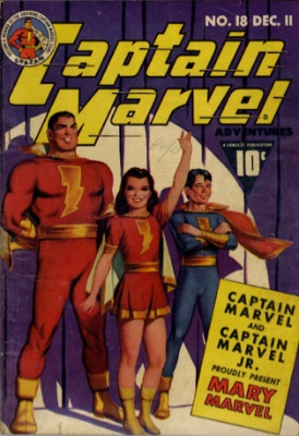 Captain Marvel Adventures #18 (December, 1942): Mary Marvel Joins the Marvel Family. Click to see values