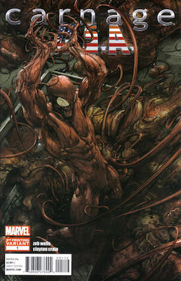 Carnage, U.S.A. #1 2nd Printing Variant. Click for values