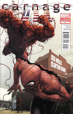 Carnage U.S.A. #2 2nd Printing Variant. Click for values