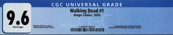 A typical CGC label looks like this