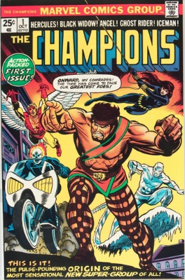 Origin and First Appearance, The Champions, Champions #1, October, 1975. Click for value