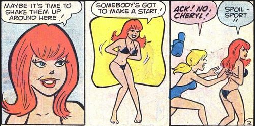 Fiesty redhead Cheryl Blossom adds sex appeal to the Archie stable!