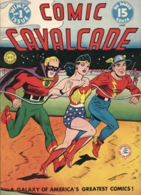 The Flash was one of the stars in Comic Cavalcade #1. Click for values