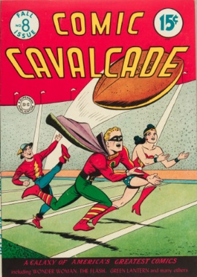 The Flash was one of the stars in Comic Cavalcade #8. Click for values