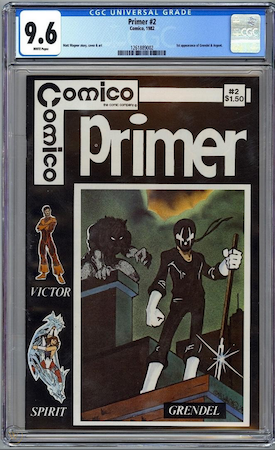 Comico Primer 2 is not really much more expensive in CGC 9.6 than in 9.4. Click to buy a copy