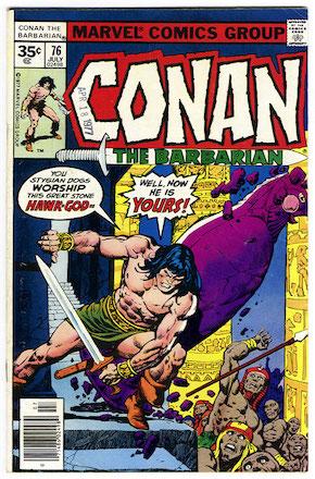 Conan the Barbarian #76 Marvel 35 Cent Variant Edition