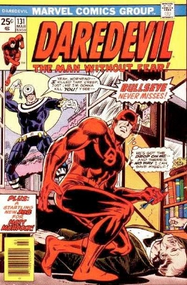 Daredevil #131 (March 1976): First Appearance of Bullseye. Click for values