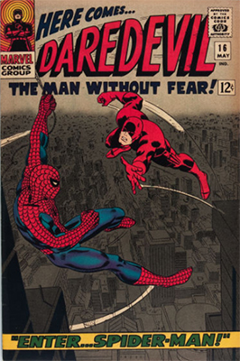 Daredevil #16 ( May 1966): Team-Up With Spider-Man. Click for values