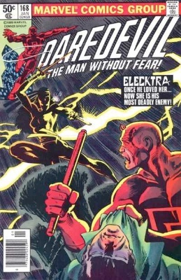 Daredevil #168: First Appearance of Elektra. Click for values