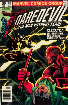 Daredevil #168 (Marvel, 1981): Origin and First Appearance of Elektra Natchios. Click for values