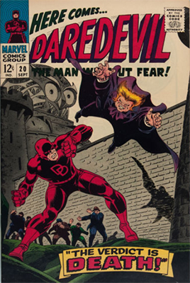 Click here to check the value of Daredevil Comic #20