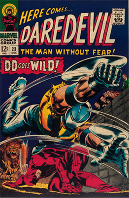 Click here to check the value of Daredevil Comic #23