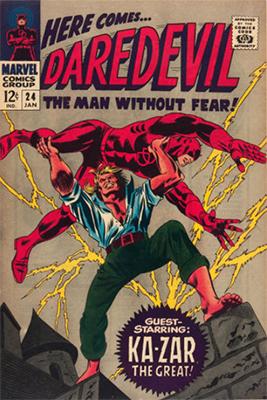 Click here to check the value of Daredevil Comic #24