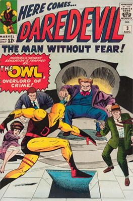 Daredevil #3 ( August 1964): First Appearance of The Owl. Click for values