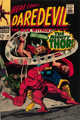 Click here to see the value of Daredevil #30 (Thor crossover)