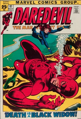 Daredevil #81 (November 1971) Black Widow Meets Daredevil. Click for values