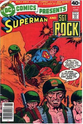 DC Comics Presents #10. Click for values.