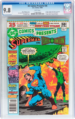 DC Comics Presents #26 is a pretty common 1980 book. You should only purchase a CGC 9.8 with white pages. Click to find yours.