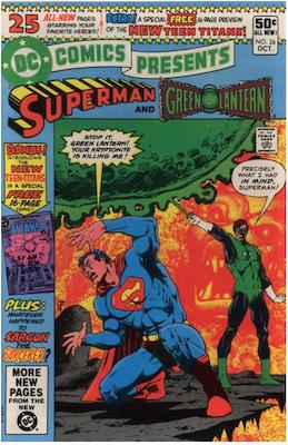 DC Comics Presents #26: 1st appearance of New Teen Titans. Click for values
