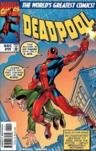 The award-winning Deadpool #11: not valuable, but a fun swipe at Spider-Man