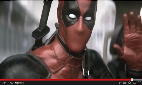 Deadpool movie test footage on YouTube