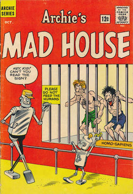 Archie's Madhouse #22: First Appearance of Sabrina the Teen-Age Witch. Click for values