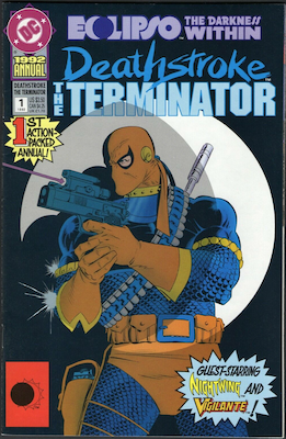 Deathstroke: The Terminator Annual #1 (1992). Click for values.