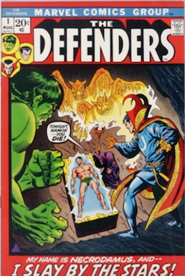Defenders #1, 1st Necrodamus. Click for values