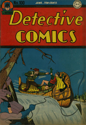 Detective Comics #100 (June 1945): Landmark Issue. Click for values