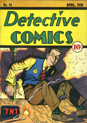 Detective Comics #14 has a really cool Scooby Doo-style 'about to blow up TNT' cover! Click for value