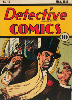 Detective Comics #15 proves that even gentleman jewel thieves didn't get away with it in the 30s. Click for value