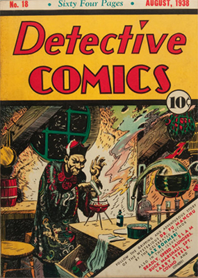 Detective Comics #18. Mystery and the Orient were popular themes in the pulp-crazy days of the 1930s. Click for values